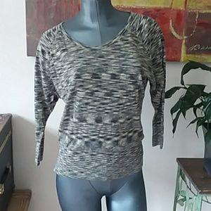 LOFT very light sweater wool blend 3/4 sleeve